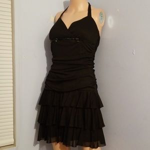 🎃RUFFLED EVENING MINI DRESS MEDIUM